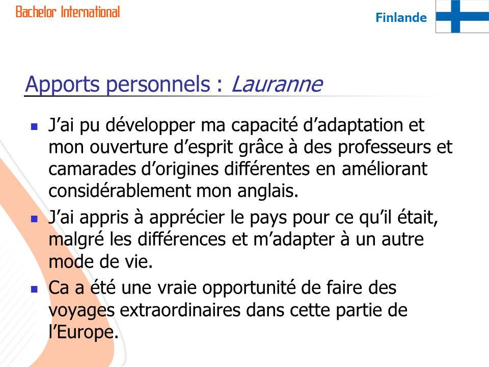 Apports personnels : Lauranne