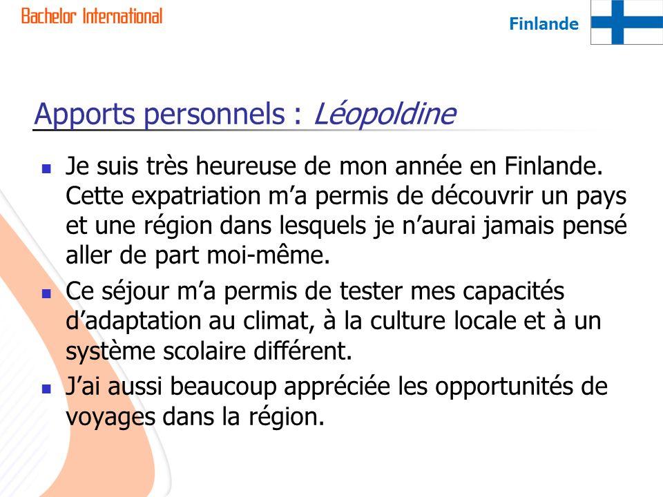 Apports personnels : Léopoldine