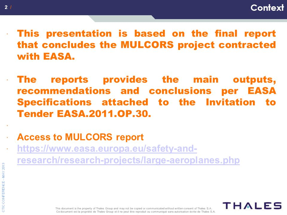 Access to MULCORS report