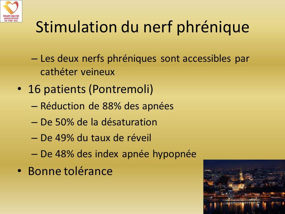 Stimulation du nerf phrénique