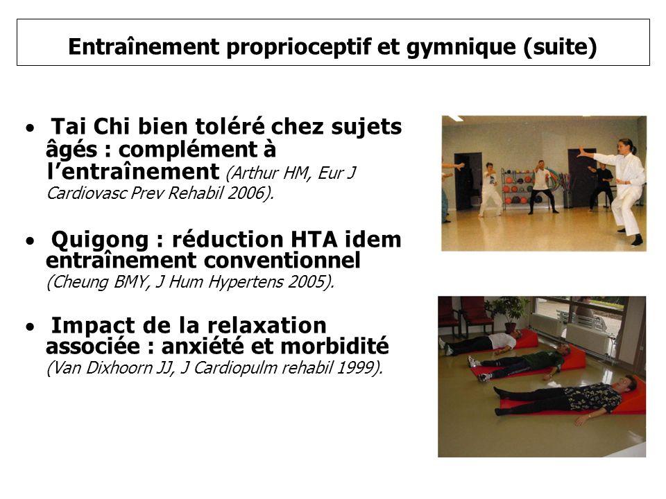 Entraînement proprioceptif et gymnique (suite)