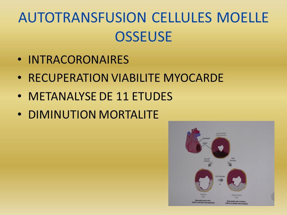 AUTOTRANSFUSION CELLULES MOELLE OSSEUSE