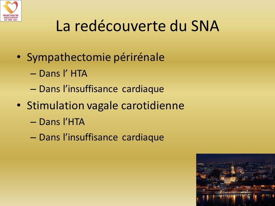 La redécouverte du SNA Sympathectomie périrénale