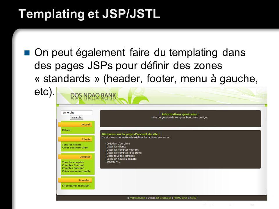 Templating et JSP/JSTL