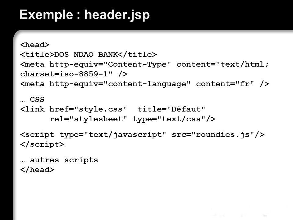 Exemple : header.jsp