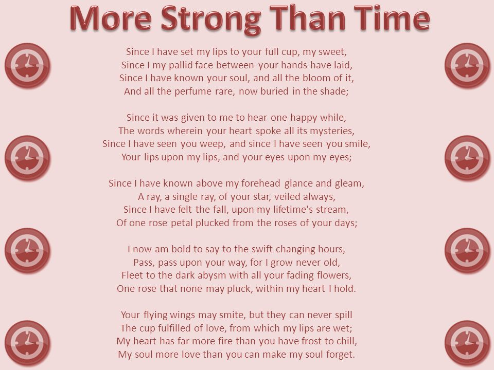 More Strong Than Time