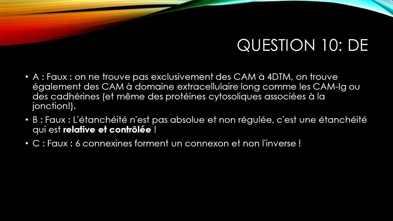 Question 10: DE