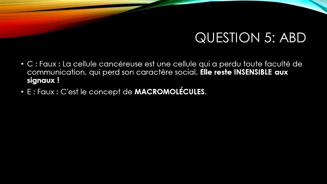 Question 5: ABD
