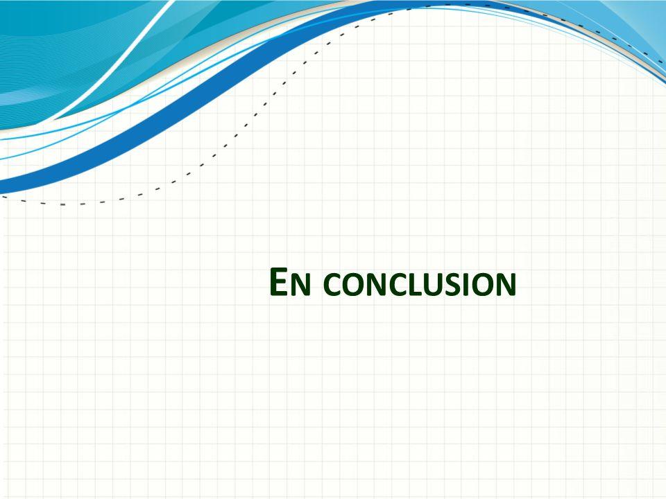 En conclusion Utiliser un en-tête de section pour chacun des sujets afin de définir une transition claire pour l'audience.