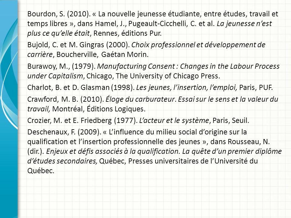 Bourdon, S. (2010).