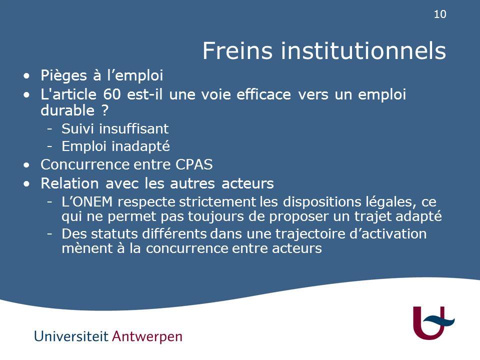 Trajectoires dans les CPAS: résultats de recherche (1)