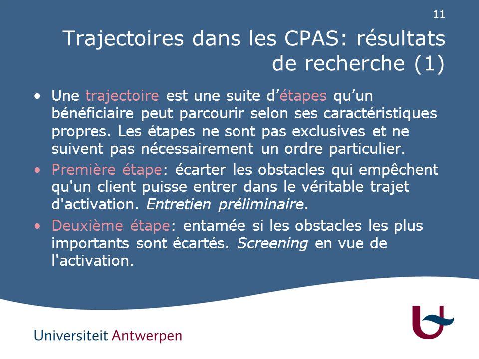 Trajectoires dans les CPAS: résultats de recherche (2)