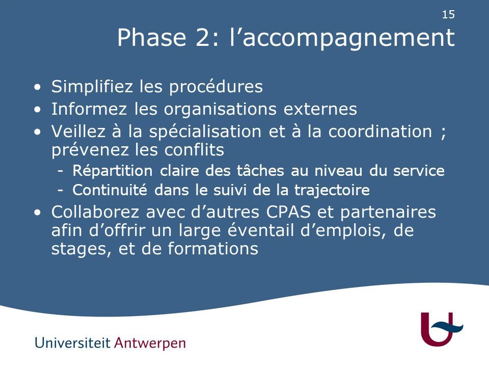 Phase 3: activation sociale
