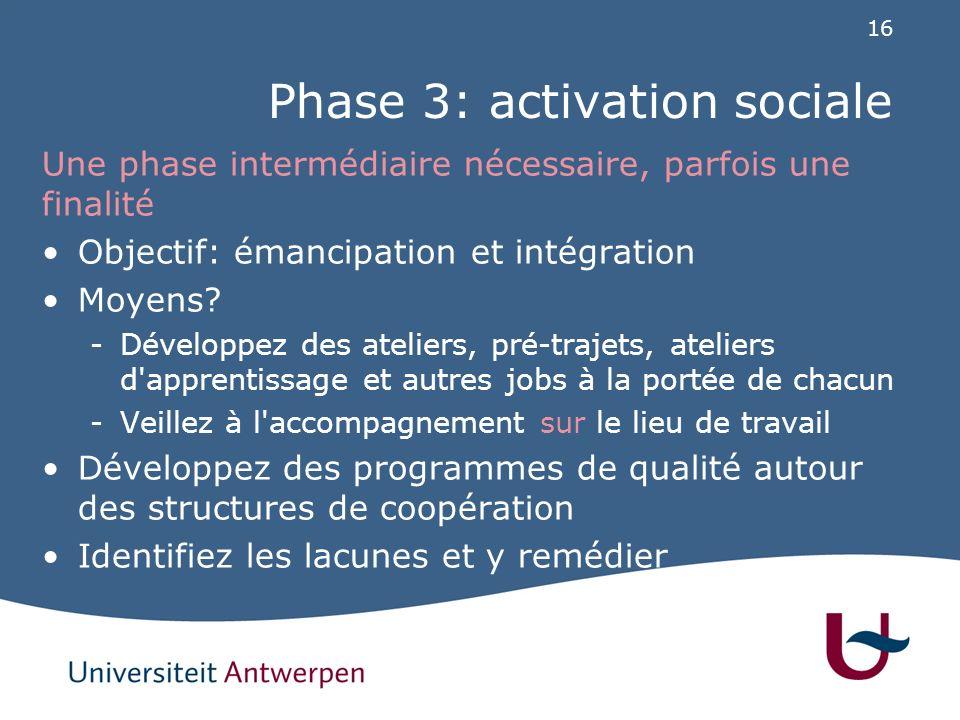 Phase 4: expérience professionnelle & formation