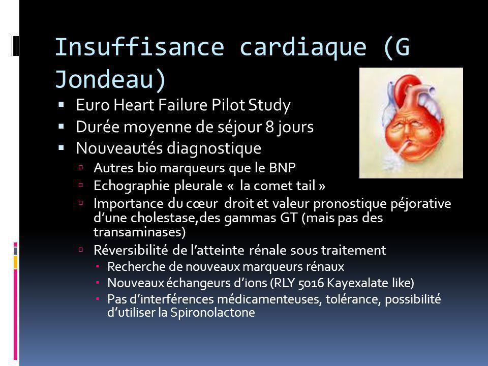 Insuffisance cardiaque (G Jondeau)