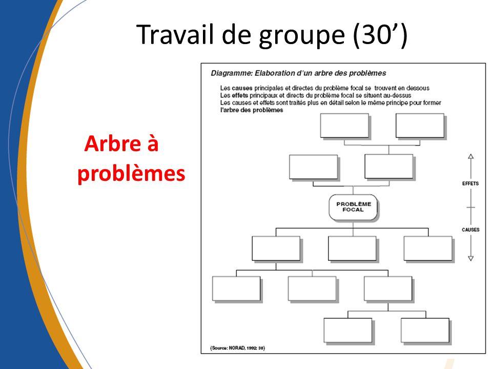 Travail de groupe (30') Arbre à problèmes