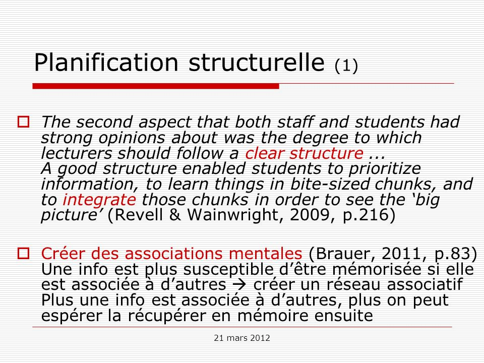 Planification structurelle (1)