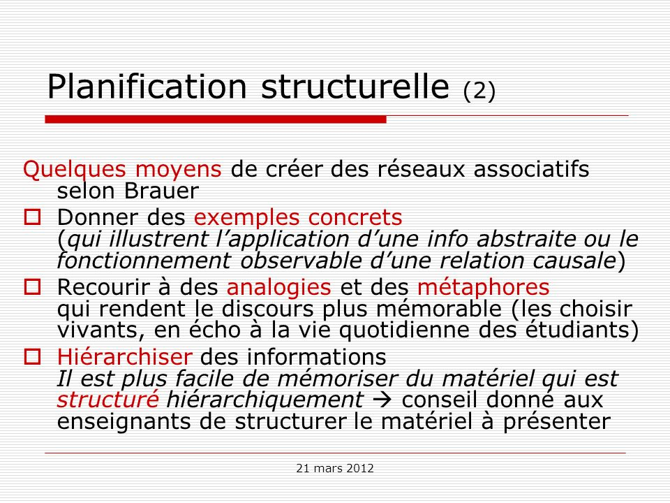 Planification structurelle (2)