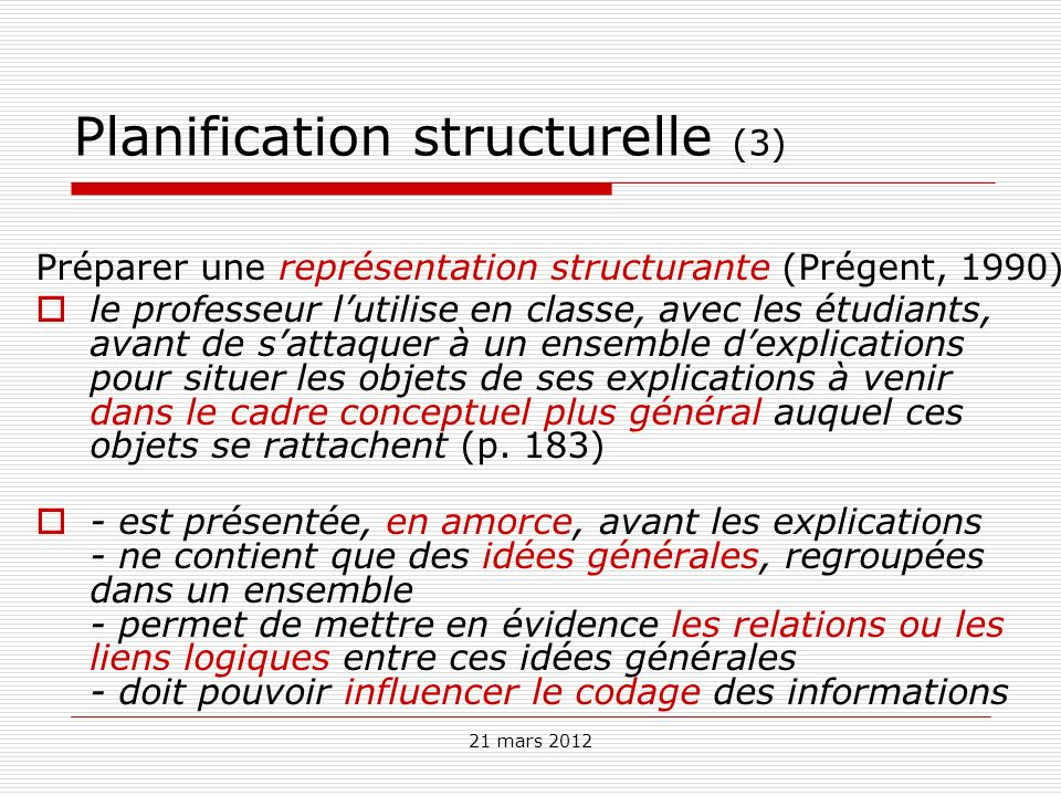 Planification structurelle (3)