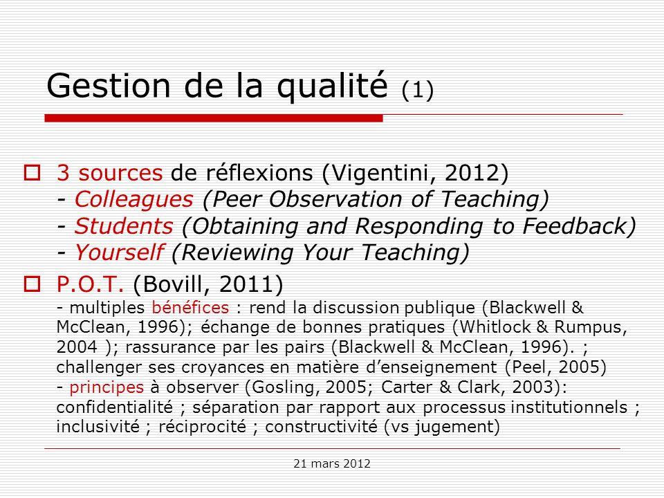 Gestion de la qualité (1)