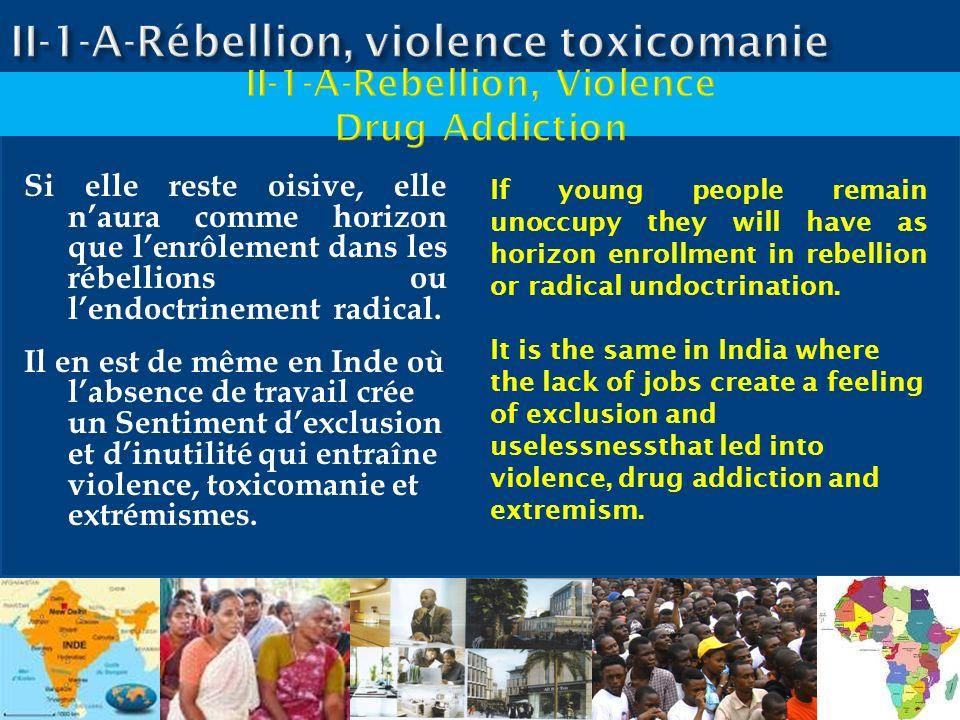 II-1-A-Rébellion, violence toxicomanie