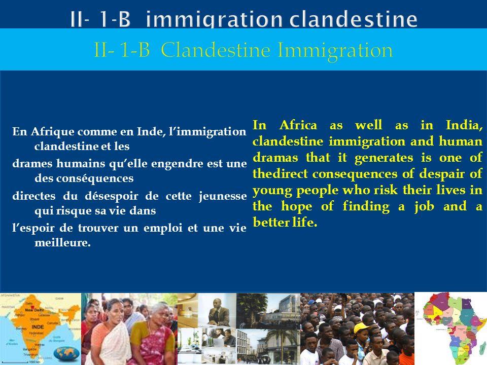 II- 1-B immigration clandestine