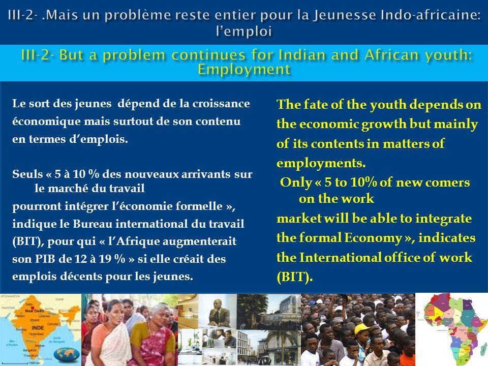 III-2- .Mais un problème reste entier pour la Jeunesse Indo-africaine: l'emploi