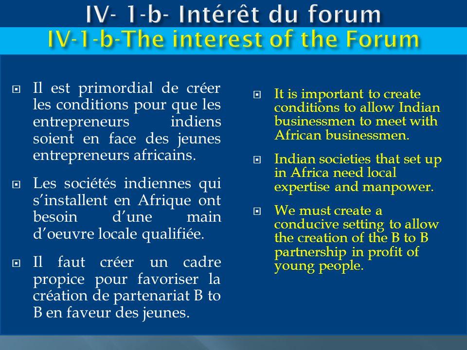 IV- 1-b- Intérêt du forum