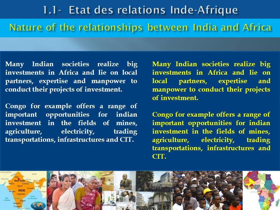 1.1- Etat des relations Inde-Afrique
