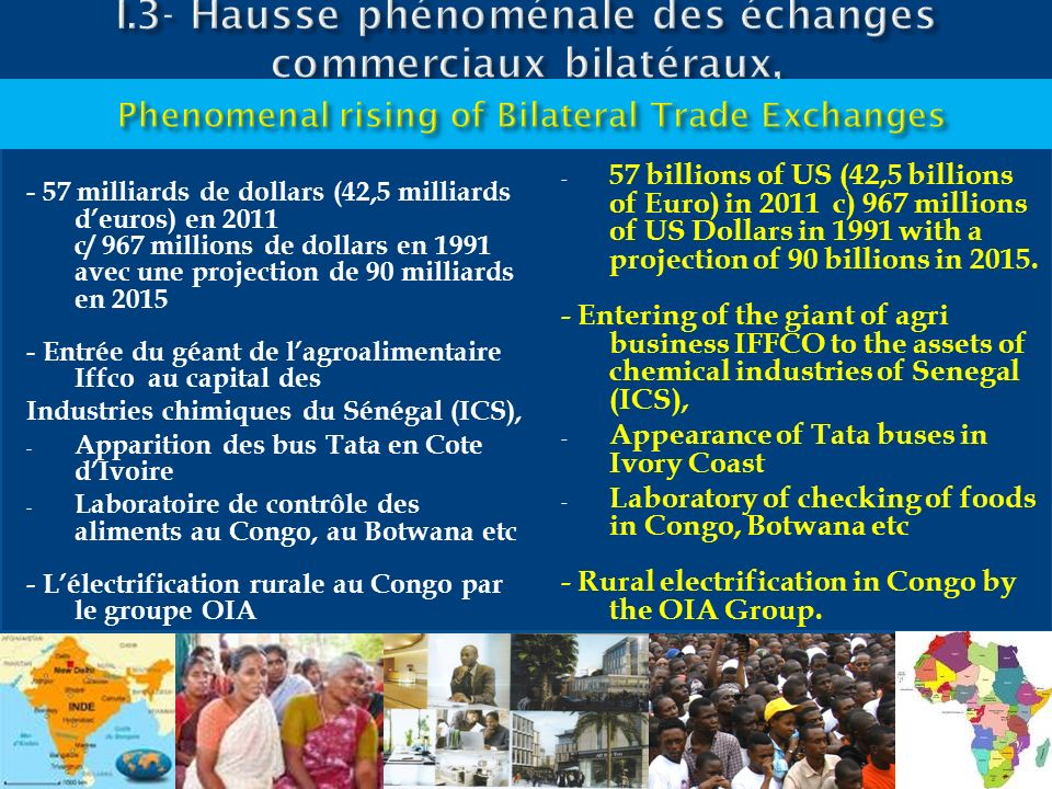 I.3- Hausse phénoménale des échanges commerciaux bilatéraux,
