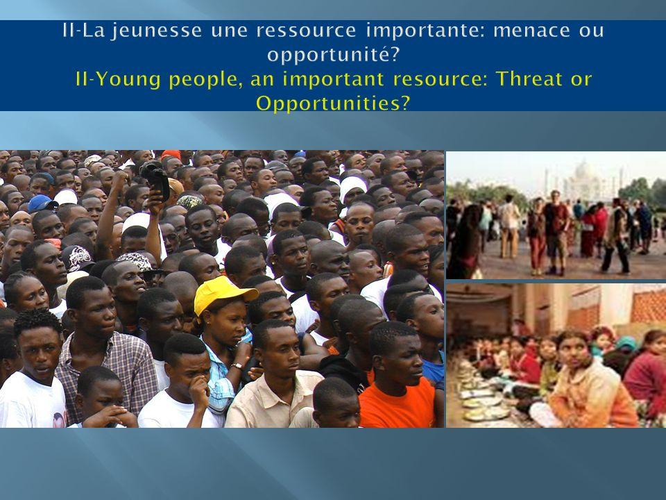 II-La jeunesse une ressource importante: menace ou opportunité