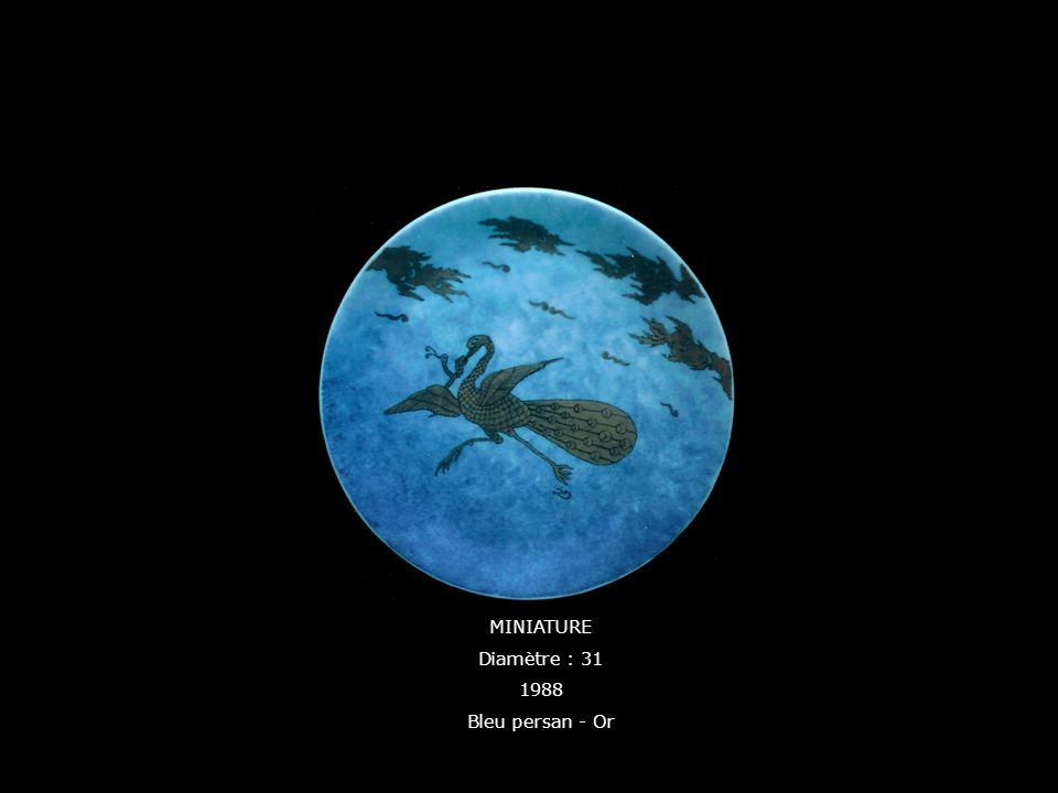 MINIATURE Diamètre : 31 1988 Bleu persan - Or
