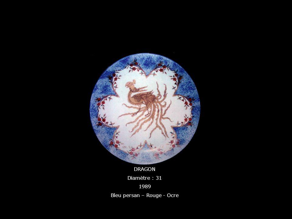 Bleu persan – Rouge - Ocre