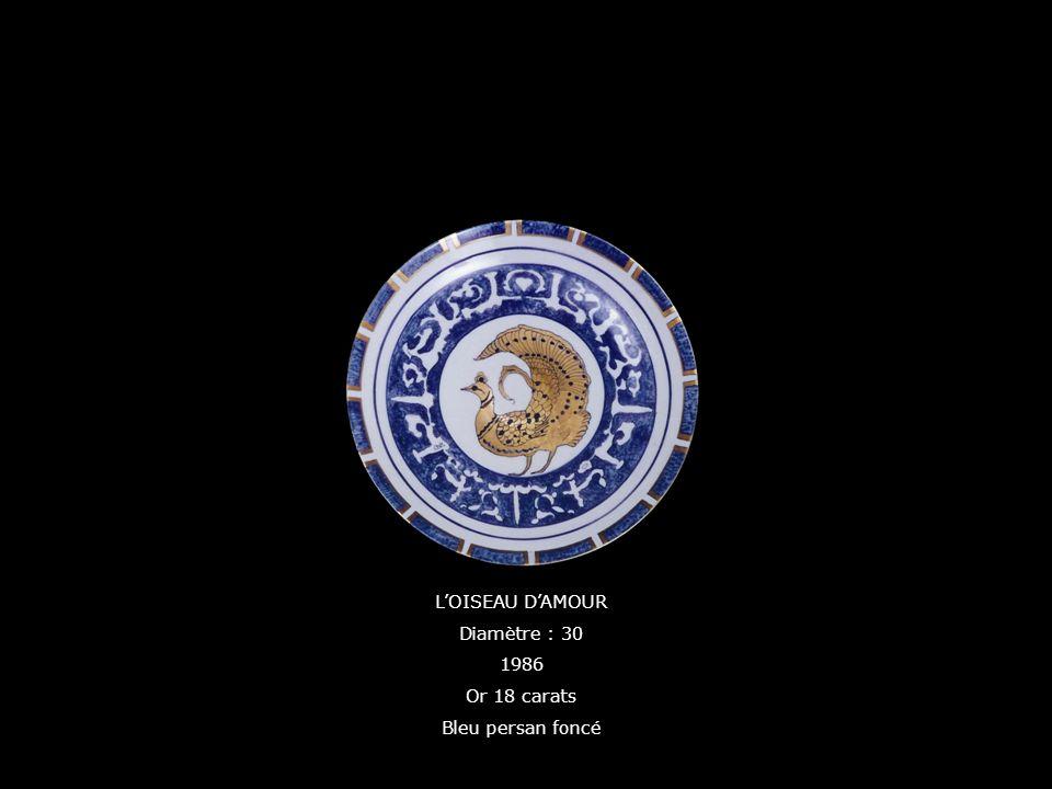 L'OISEAU D'AMOUR Diamètre : 30 1986 Or 18 carats Bleu persan foncé