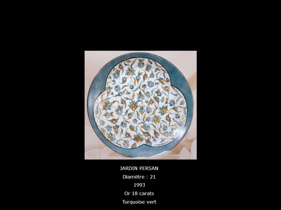 JARDIN PERSAN Diamètre : 21 1993 Or 18 carats Turquoise vert