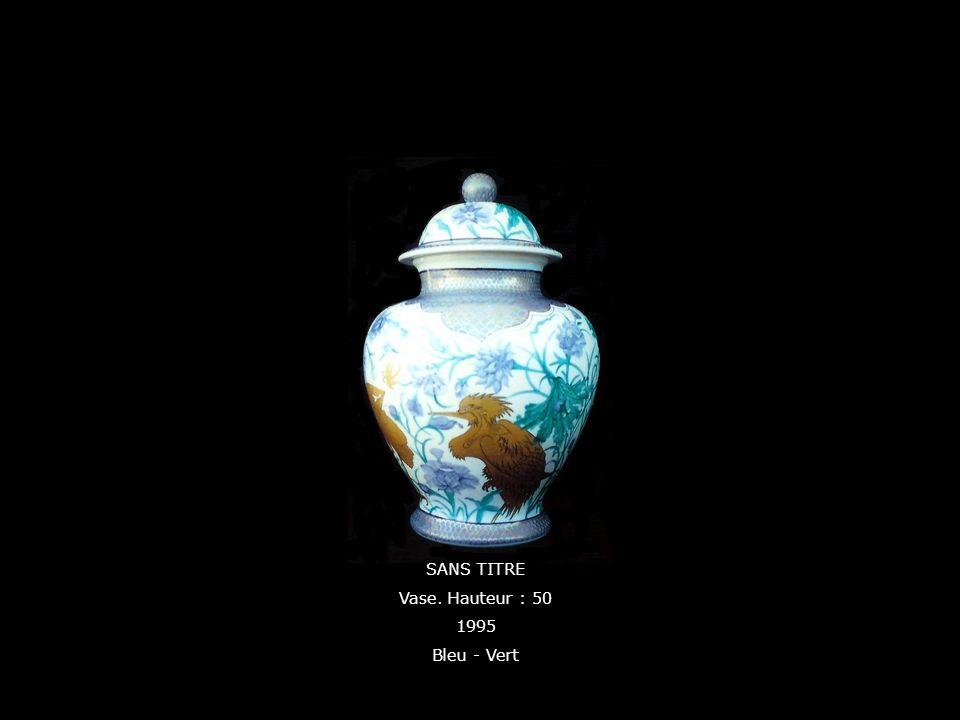 SANS TITRE Vase. Hauteur : 50 1995 Bleu - Vert