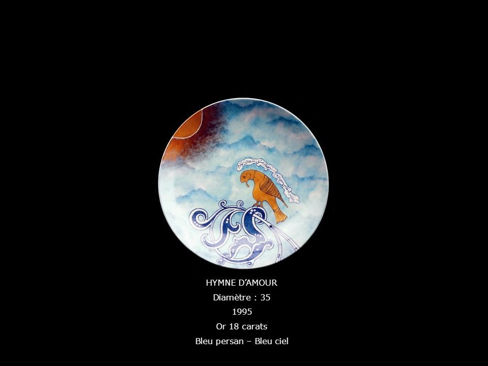 HYMNE D'AMOUR Diamètre : 35 1995 Or 18 carats Bleu persan – Bleu ciel