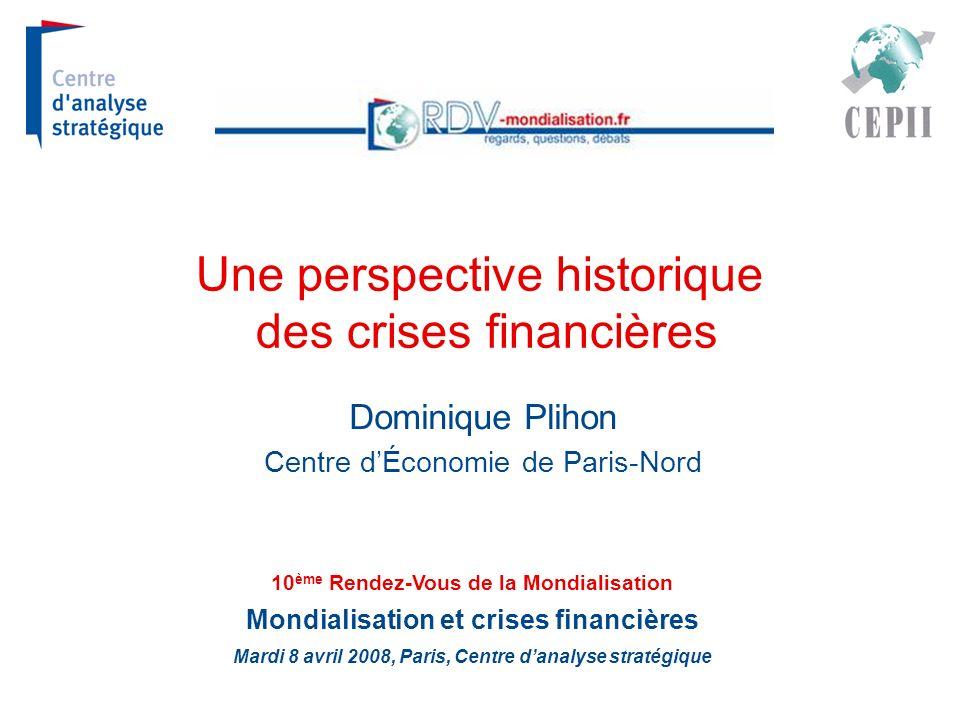 Une perspective historique des crises financières