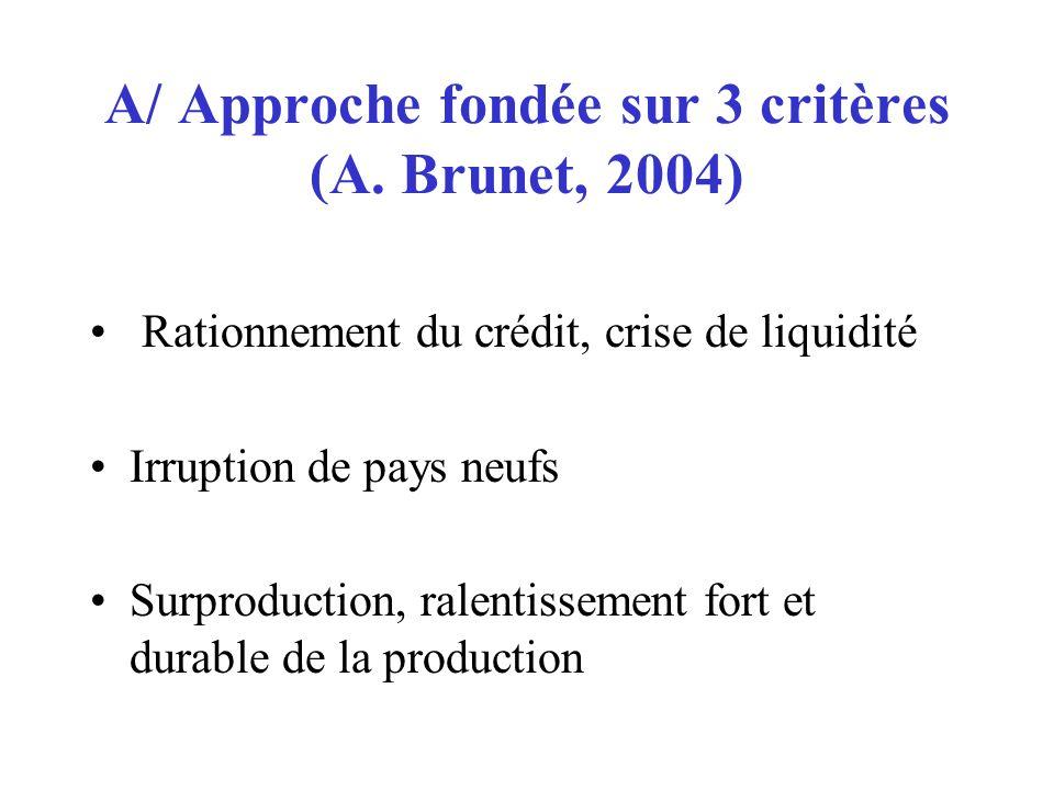 A/ Approche fondée sur 3 critères (A. Brunet, 2004)