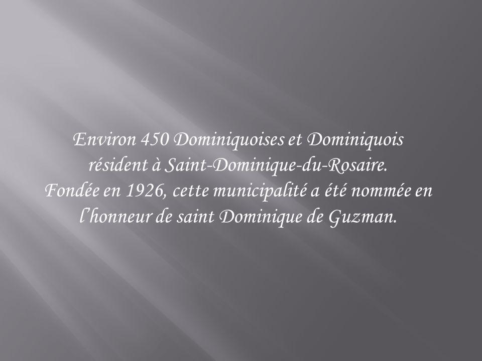 Environ 450 Dominiquoises et Dominiquois