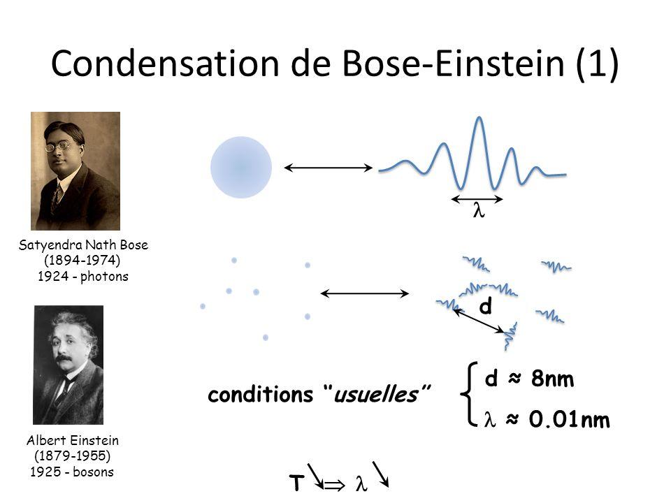 Condensation de Bose-Einstein (1)