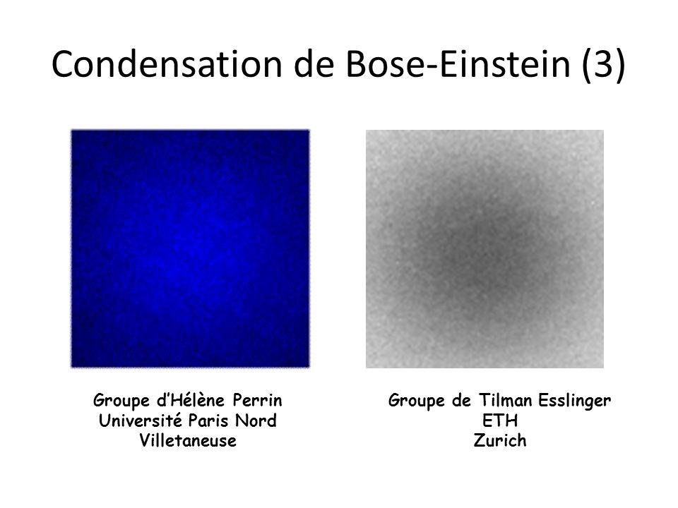 Condensation de Bose-Einstein (3)