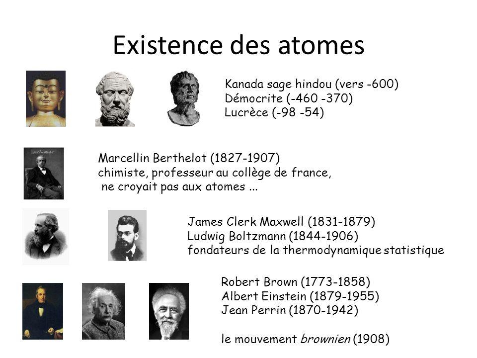 Existence des atomes Kanada sage hindou (vers -600)