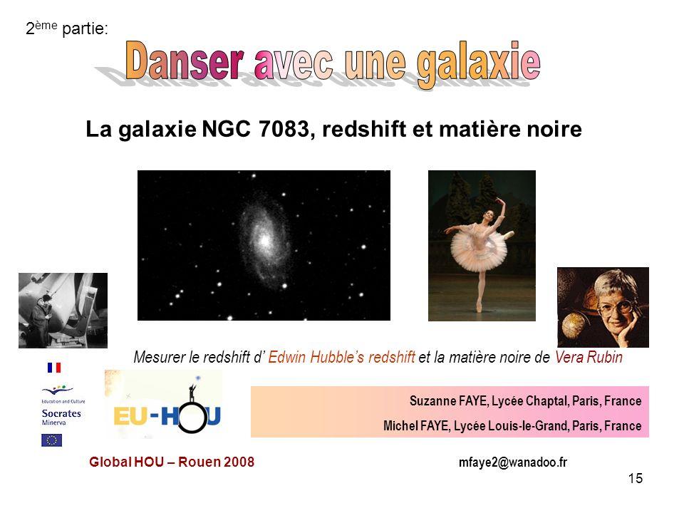 La galaxie NGC 7083, redshift et matière noire