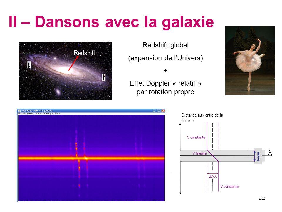II – Dansons avec la galaxie
