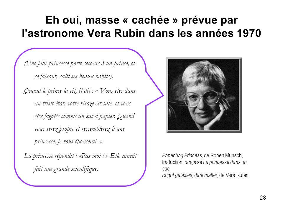 Eh oui, masse « cachée » prévue par l'astronome Vera Rubin dans les années 1970
