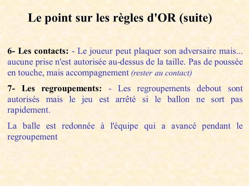 Le point sur les règles d OR (suite)
