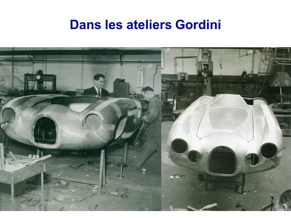 Dans les ateliers Gordini