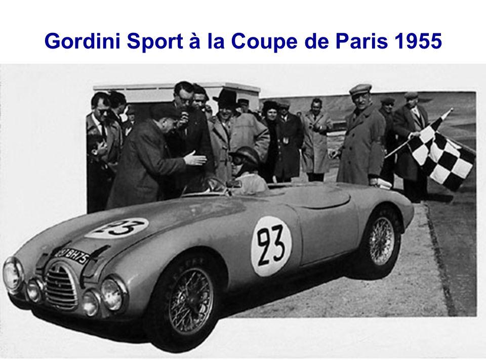 Gordini Sport à la Coupe de Paris 1955