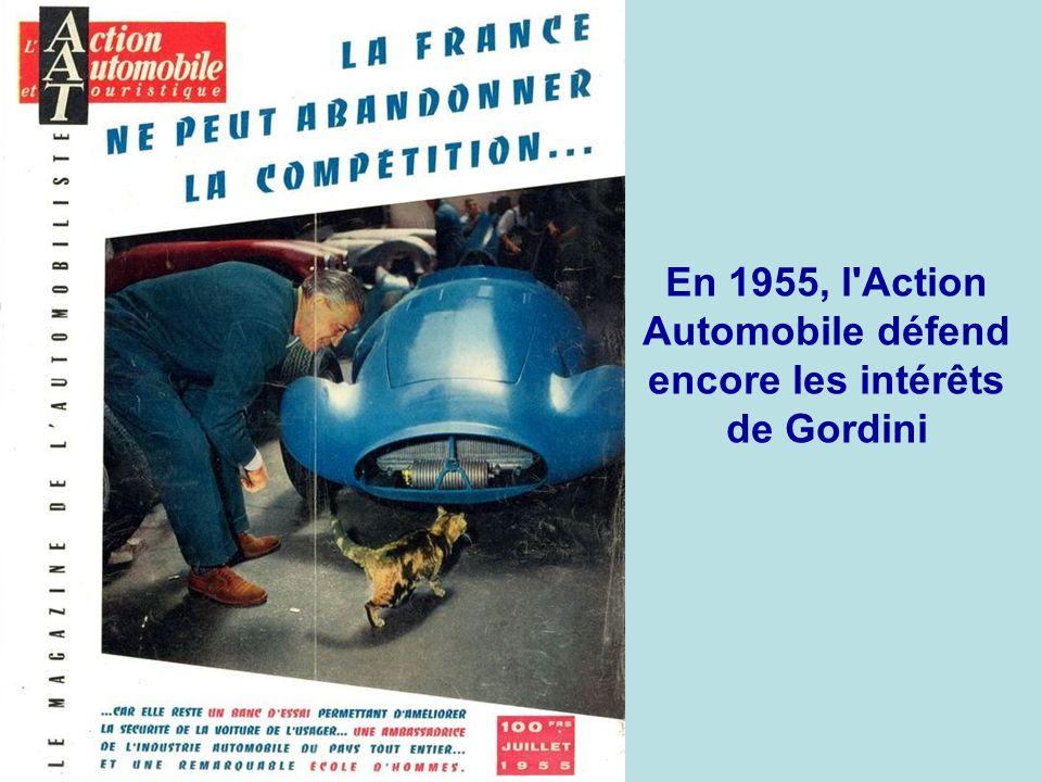 En 1955, l Action Automobile défend encore les intérêts de Gordini